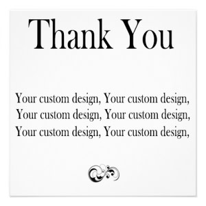 Custom Design Thank You Cards