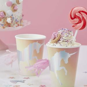 Make a Wish Unicorn Paper Cups (8)