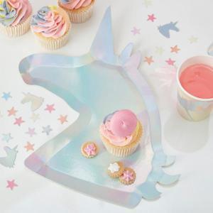 Make a Wish Unicorn Paper Plates (8)