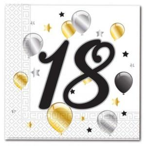 Age 18 Birthday Balloon Napkins (20)