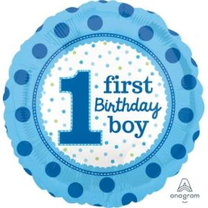 1st Birthday Boy Balloon 18 inch