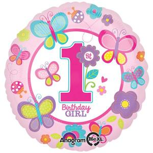 1st Birthday Sweet Girl Balloon 18 inch