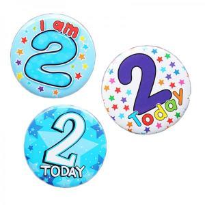 Happy 2nd Birthday Badge Boy Design