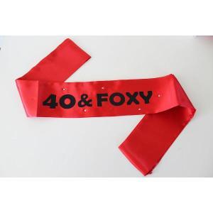 40 & Foxy Birthday Sash Red/Black