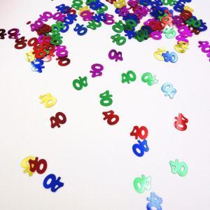 """Sparkling """"40th"""" Table Confetti"""