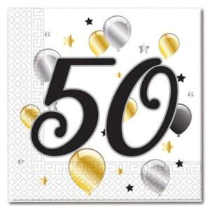 Age 50 Birthday Balloon Napkins (20)