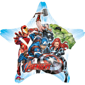 Avengers Supershape Star Foil Balloon