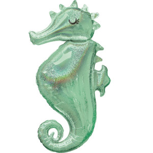 Seahorse Iridescent Supershape Foil Balloon