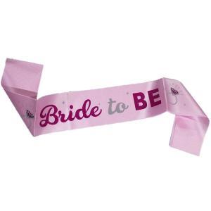 Bride to be Sash Light pink with Dark pink detail