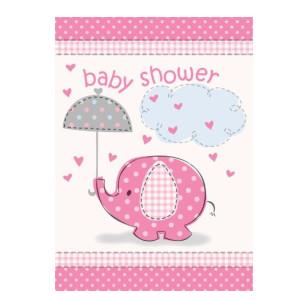 Pink Umbrellaphants Party Invitation