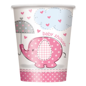 Pink Umbrellaphants Paper Cups (8)