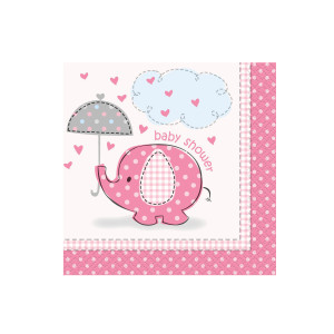 Pink Umbrellaphants Beverage Napkins (16)