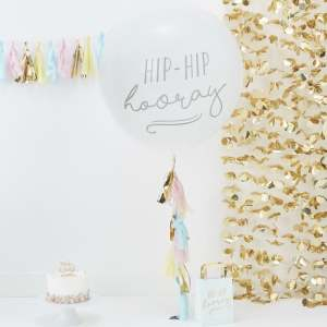 Pick & Mix Hip Hip Hooray Giant Balloon with Tassels (1)