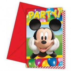 Disney Playful Mickey Invitations & Envelopes (6pc)