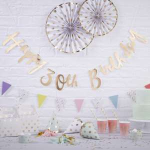 Pick & Mix Happy 30th Birthday Foiled Backdrop