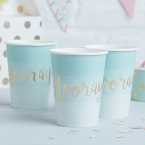 Pick & Mix Ombre Mint Green Paper Cups (8)