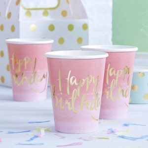 Pick & Mix Ombre Paper Cups (8)