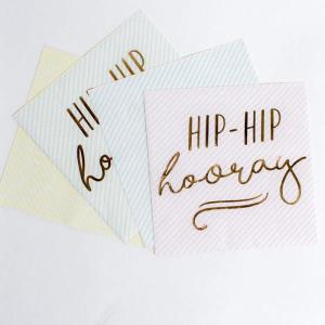 Pick & Mix Hip Hip Hooray Pastel Napkins (16)