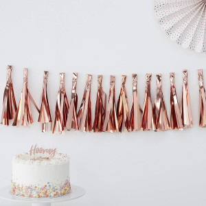 Pick & Mix Rose Gold Tassel Garland