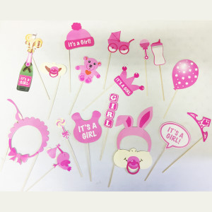 Girl Baby Shower Photo Booth Props