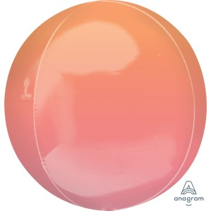 Ombre Orb Balloon Red And Orange