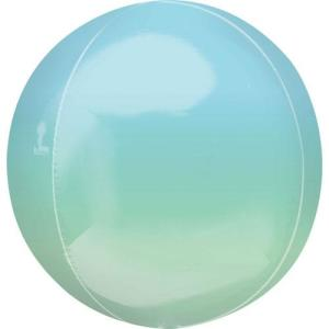 Ombre Orb Balloon Blue And Green