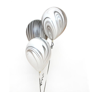 Black and White Marble Balloon (1)