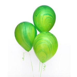 Green Marble Balloon (1)