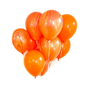 Orange Marble Balloon (1)