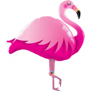 Smiling Flamingo Supershape Foil Balloon
