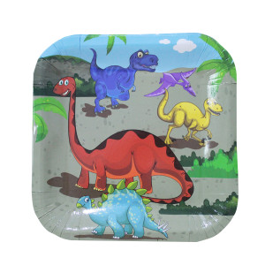 Dinosaur Party Square Plates Large (10)