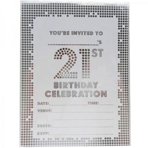 21st Party Invitation Pad