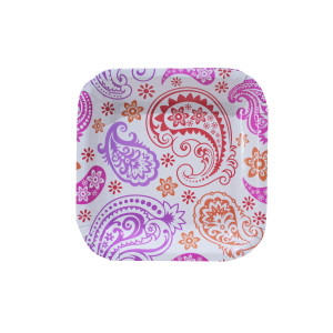 Paisley Patterned Dessert Plates (10)