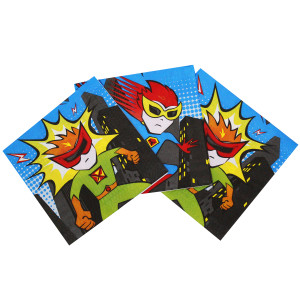 Little POW Superhero Napkins (16)