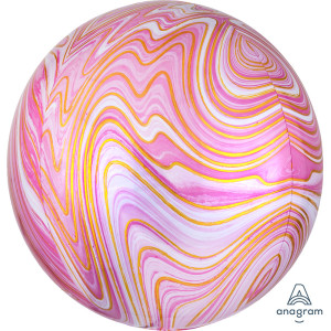 Pink Marble Orb Foil Balloon