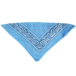 Light  Blue Cowboy Bandanna