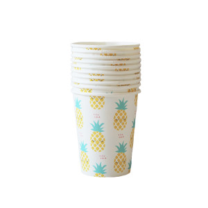 Pineapple Paper Cups (10)