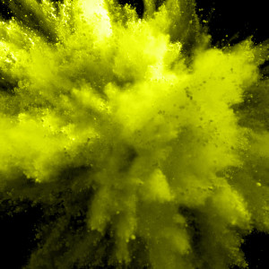 Party Popper Yellow Coloured Powder
