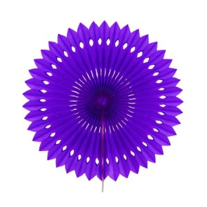 Violet Decorative Paper Fan (30cm)