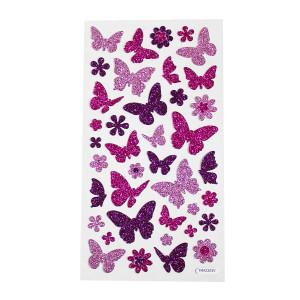 Butterfly Glitter Stickers