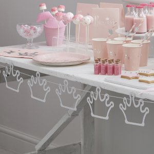 Princess Perfection Bunting Crown Silver Glitter