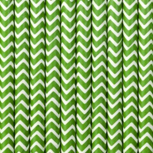 Apple Green Zig Zag Party Straws (25)