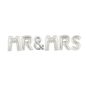 Mr and Mrs Balloon Kit Silver
