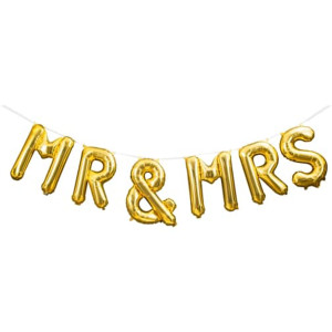 Mr and Mrs Balloon Kit Gold