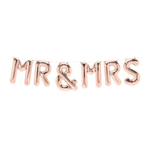 Mr and Mrs Balloon Kit Rose Gold