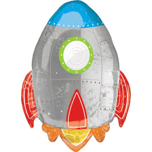 Blast off Rocket Supershape Balloon