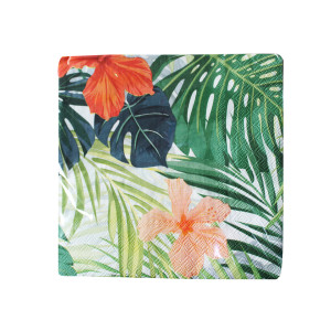 Tropical Jungle Leaves and Flower Napkins (20)