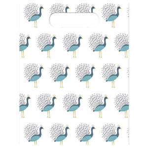 Birds of a Feather Peacock Party Bags (6)