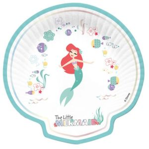 The Little Mermaid Shell Plates (4)