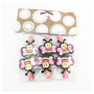 Bee Pegs Pink (6)